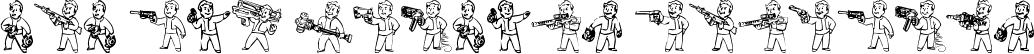 Pip Boy Weapons Dingbats
