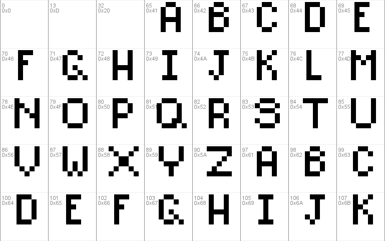 Pixel Alphabet font - free for Personal