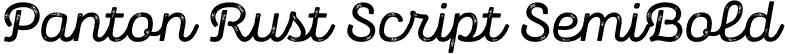 Panton Rust Script SemiBold