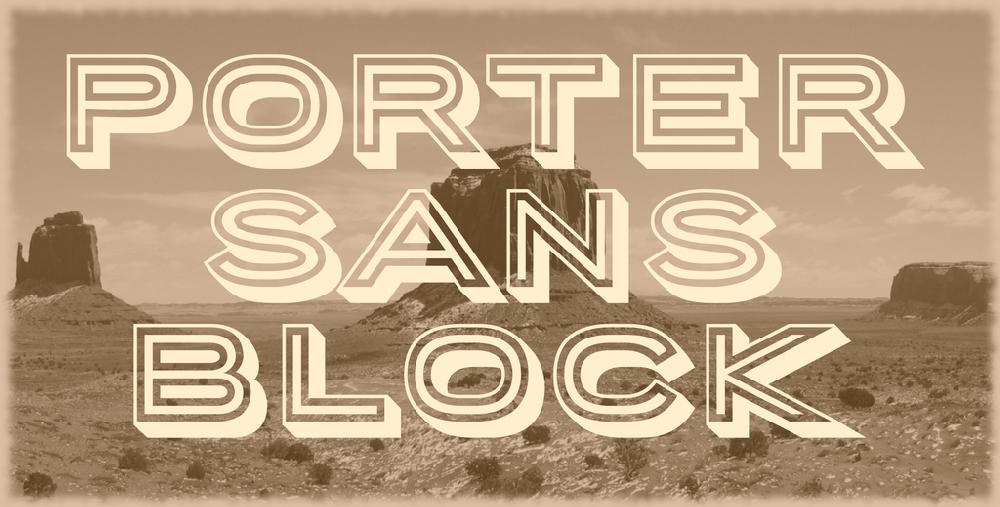 Porter Sans Block