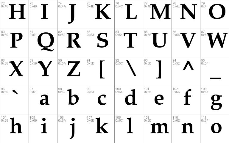 palatino-bold windows font