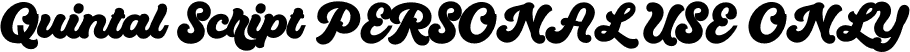 Quintal Script PERSONAL USE ONLY