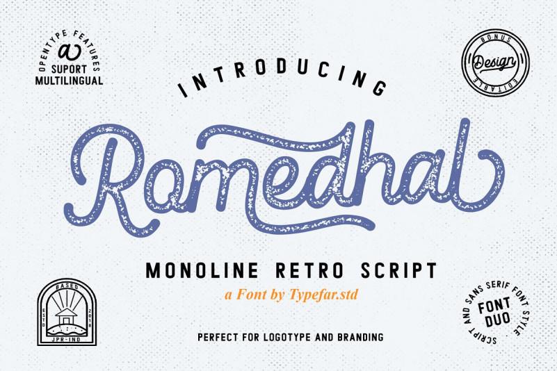 Romedhal Script Stamp