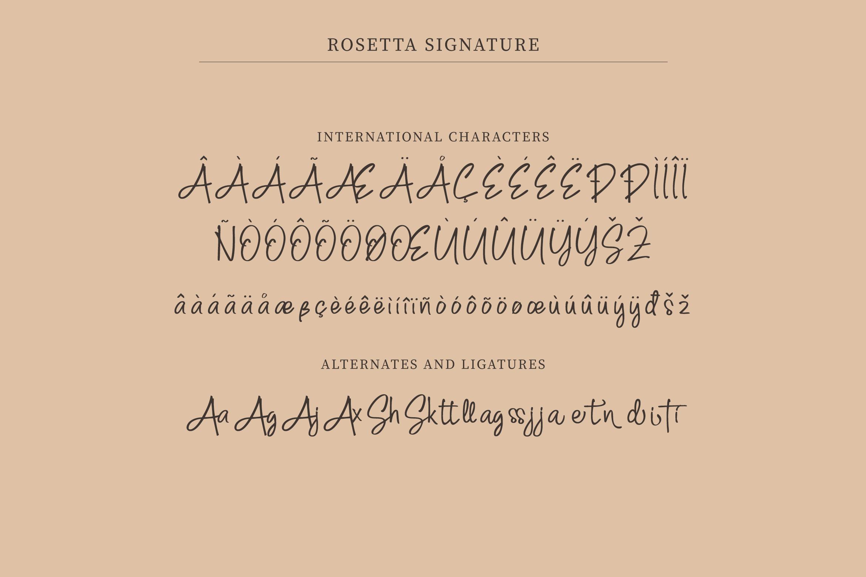 Rosetta Signature
