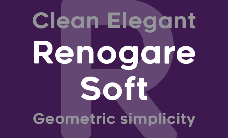 Renogare Soft font - free for Personal