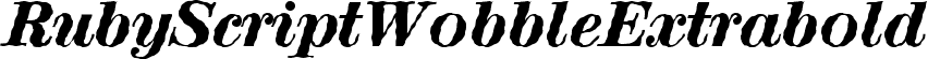 RubyScriptWobbleExtrabold