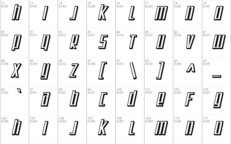 Sf Square Root Shaded Windows Font Free For Personal