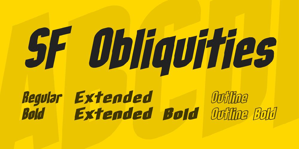 SF Obliquities