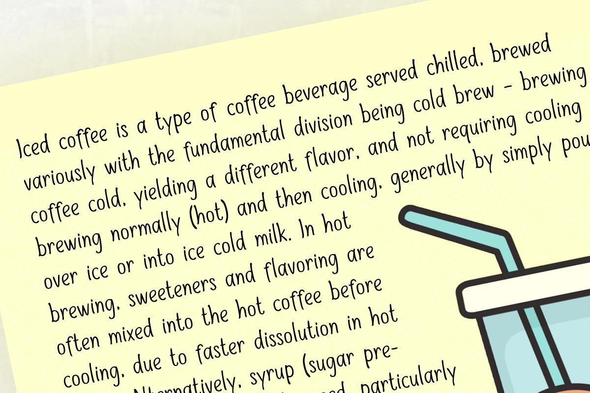 Sweet Iced Coffee