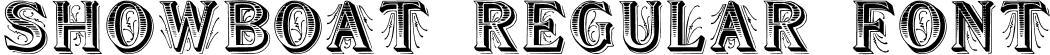 Showboat Regular Font