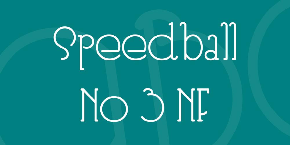 Speedball No 3 NF
