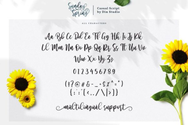 Sunday Spring Personal Use Font Free For Personal