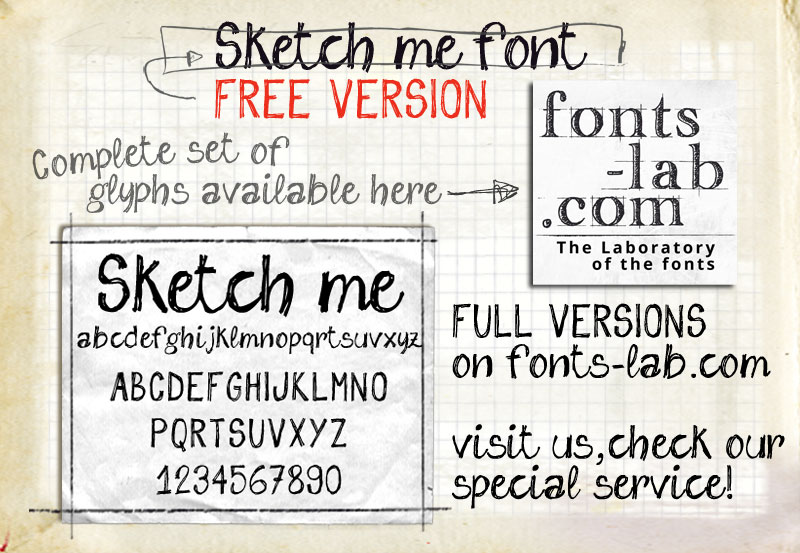 Sketch Me font - free for Personal