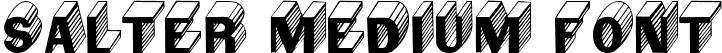 Salter Medium Font