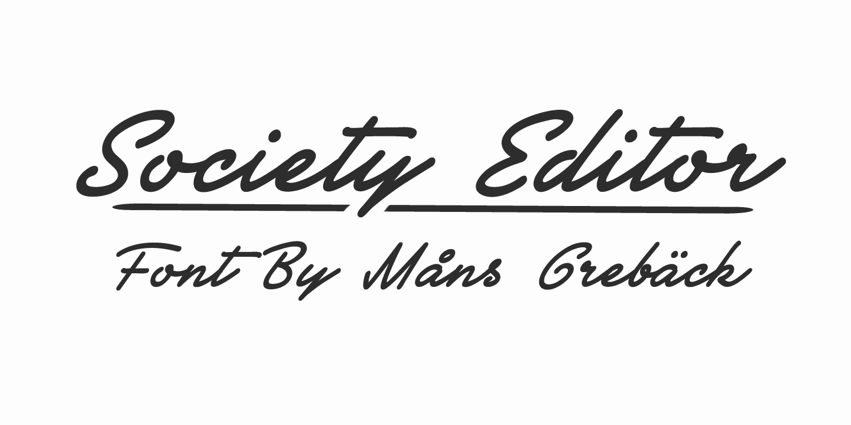 Society Editor