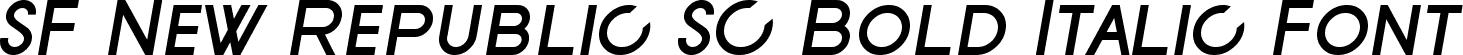 SF New Republic SC Bold Italic Font