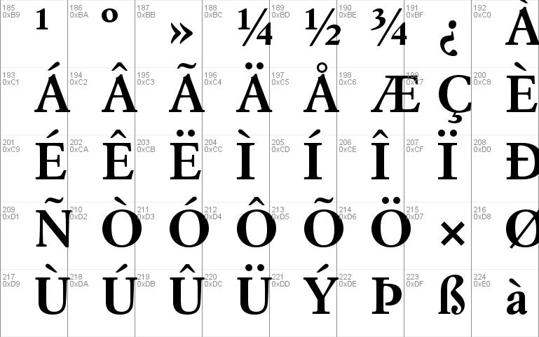 Simoncini Garamond Std font - free for Personal