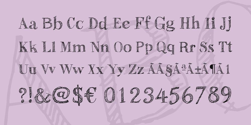 Sketch Fine Serif
