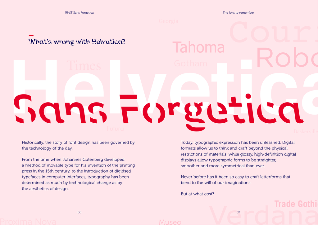 Sans Forgetica font - free for Personal