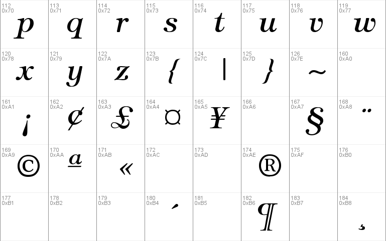 Tiffany-Italic