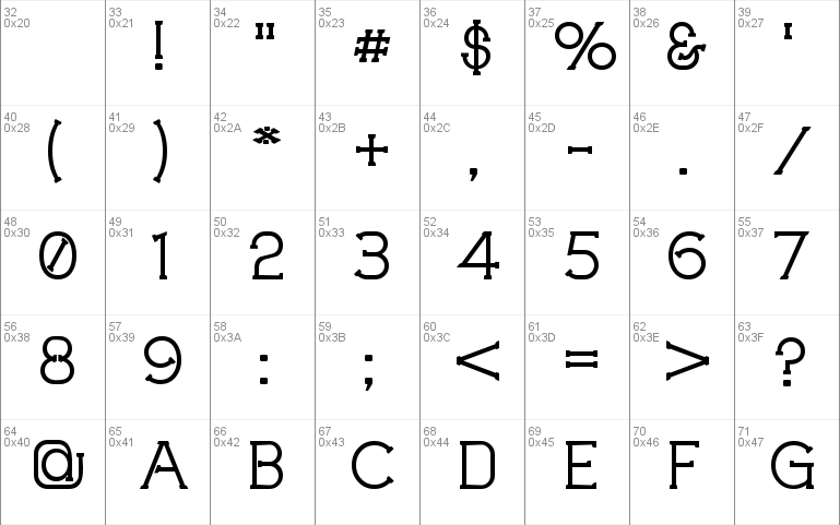 Technically Insane Outline Font Windows font - free for Personal