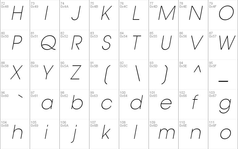 trendex light ssi font