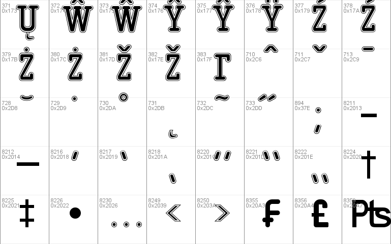 Typo College Outline Demo Windows font - free for Personal