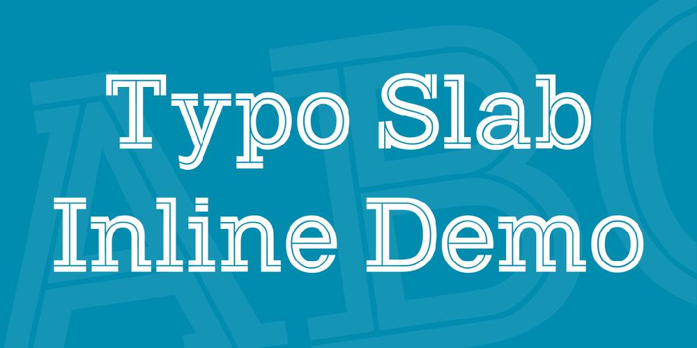 Typo Slab Inline Demo