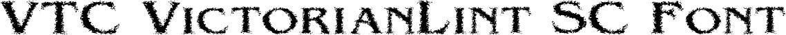 VTC VictorianLint SC Font