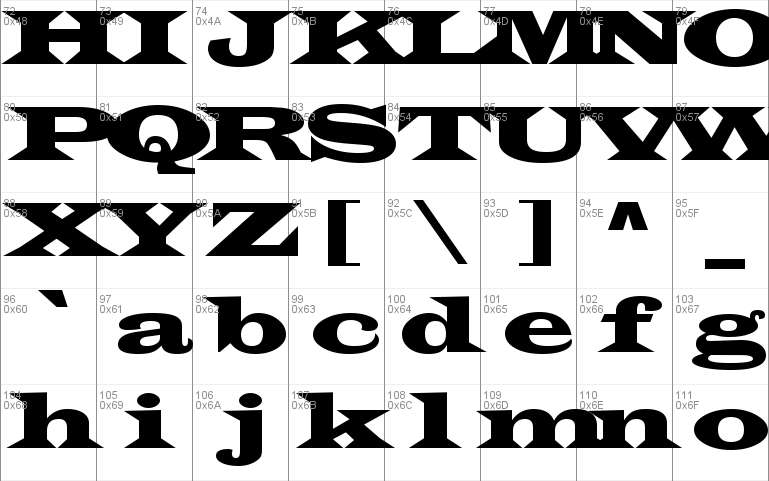 Wide Latin font - free for Personal