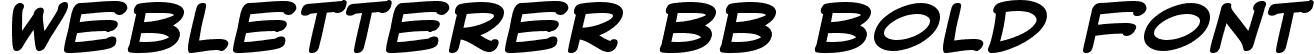 WebLetterer BB Bold Font
