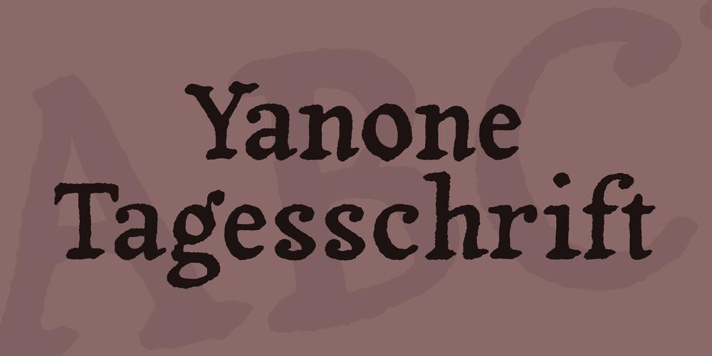 Yanone Tagesschrift